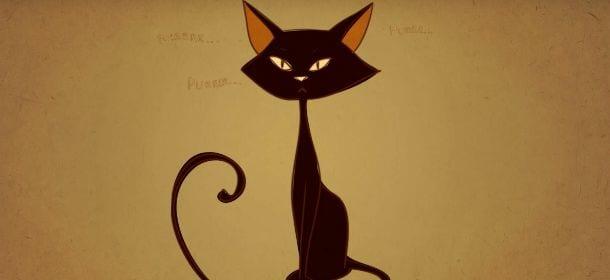 Gatti e linguaggio come comprenderli un cartone animato