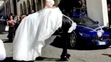 cavallo cade a terra matrimonio